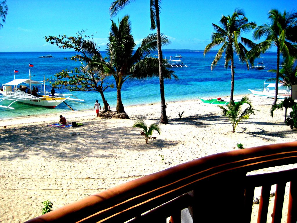 Hippocampus Beach and dive resort Malapascua view from deluxe rooms