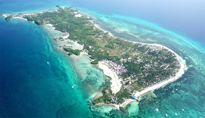 malapscua island from the air photo